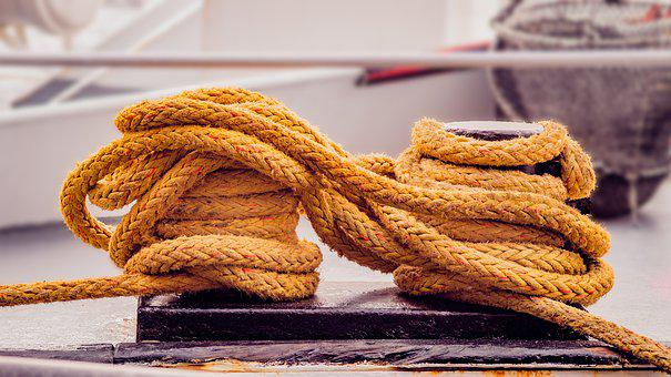 Yellow, Rope, Fishing Boat, Port, Cables, Nets
