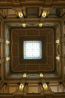 Ceiling, Art, Painted Ceiling, Museum, Architecture