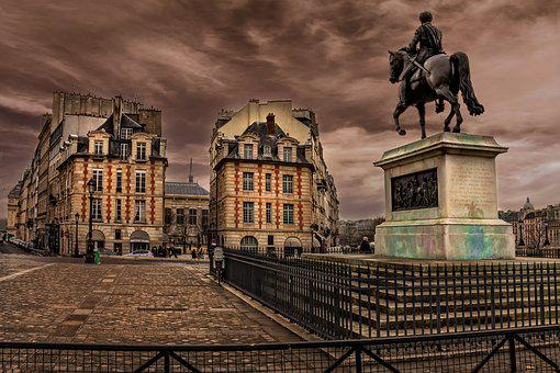 Paris, Seine, Perspective, France, Buildings, Tourism