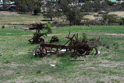 Country, Farm, Machinery, Rust, Countryside, Landscape