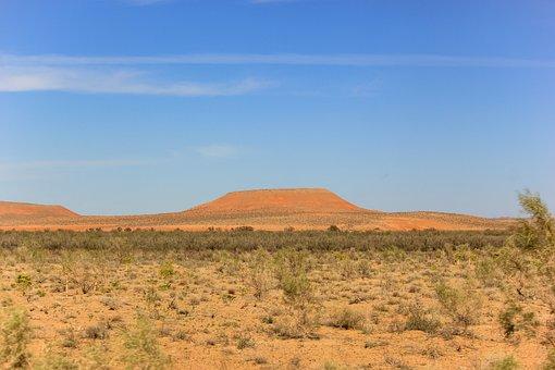 Mountains, Sand, Landscape, Orange, Desert, Sandstone