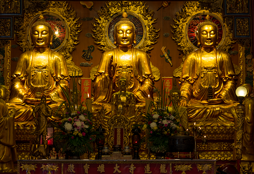 Statues, Buddha, Re, Religion, Asia, Temple, Sculpture