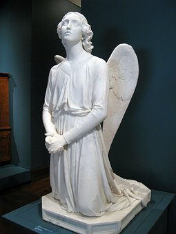 Angel, Statue, Sculpture, Wing, Angelic, Holy, Stone