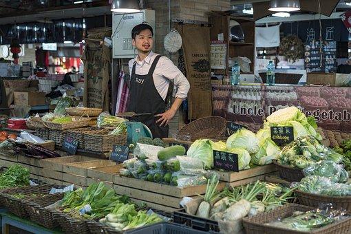 Vegetable, Yatai, Cauliflower, Fruit, Ingredients, Shop
