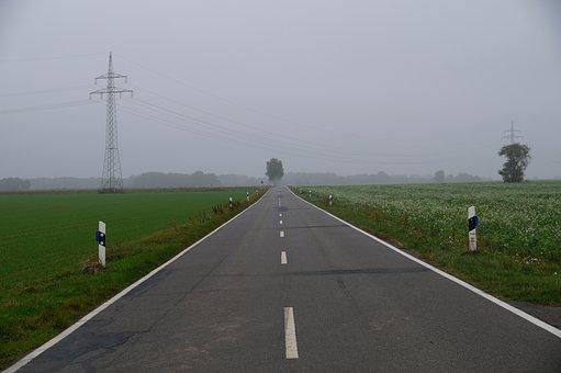 Road, Country Road, Asphalt, Side Street, Road Post