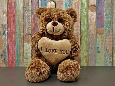 Teddy, Love, Romance, Sweet, Cute, Soft Toy