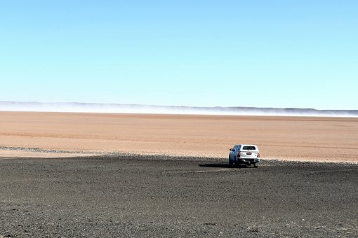 Desert, Playa, Landscape, Flat, South Africa, Hot