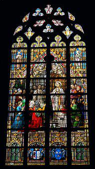 Church Window, Stained Glass Window, Stained Glass