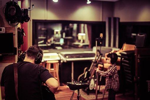 Studio, Recording, Audio, Musician, Father, Child