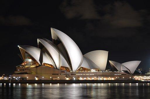 Opera House, Sydney, Australia, Architecture, Landscape