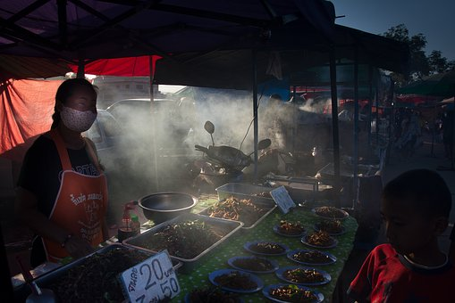 Market, Thailand, Food, People, Marketplace, Woman
