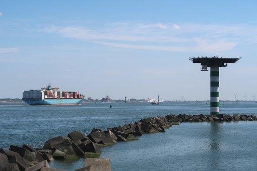 Port, Maasvlakte, Container Ship, Transport, Nautical