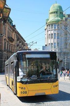 Trolley Bus, Means Of Transport, Ukraine, Lviv