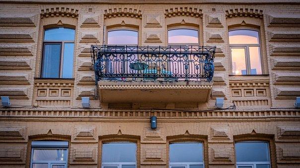 Kyiv, Kiev, Balcony, Building, Architecture, Ukraine