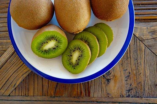 Kiwi, Kiwis, Fruit, Vitamins, Fruits, Green, Kiwi Fruit