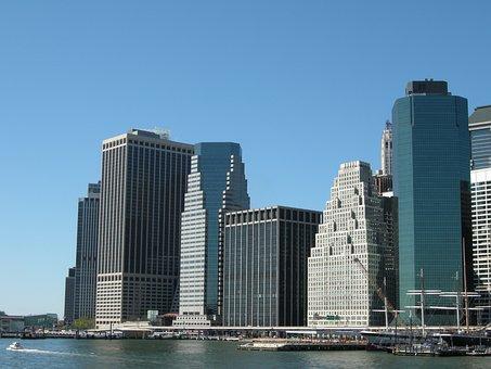 New York, Manhattan, Harbor, Nyc, Landmark, Water Front