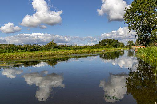 Pond, Water, Clouds, Sky, Reflection, Summer