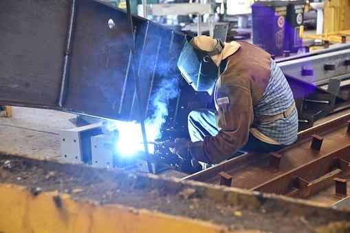Labor, Work, Heavy, Iron, Steel, Welder, Welding