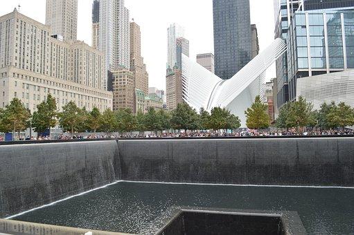 World Trade Center, Memorial, New York, Usa