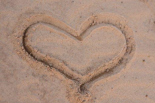 Sand, Heart, Written, Drawing, Romantic, Love, Romance