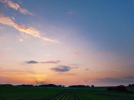 Evening Sky, Sunset, Afterglow, Abendstimmung, Sky