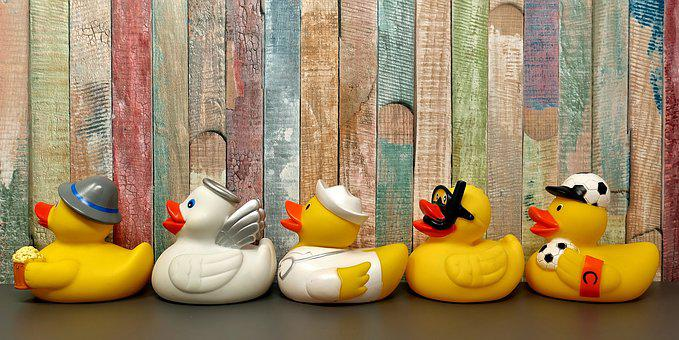 Rubber Ducks, Bath Ducks, Fun Bathing, Toys
