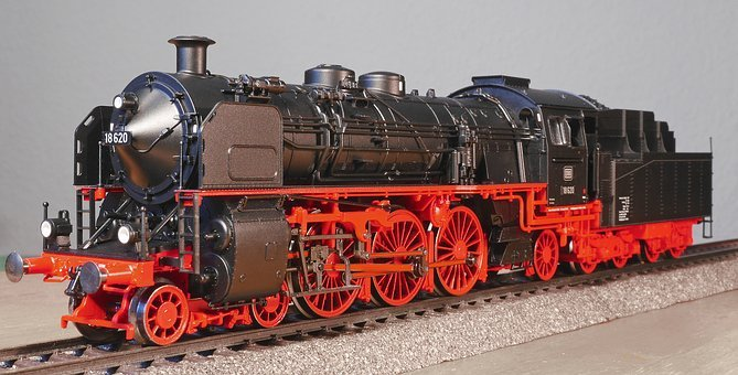Steam Locomotive, Model, Scale H0, Bavarian S 3-6, Br18