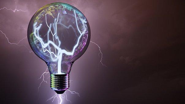 Light Bulb, Flashes, Big City Lights, Discharge