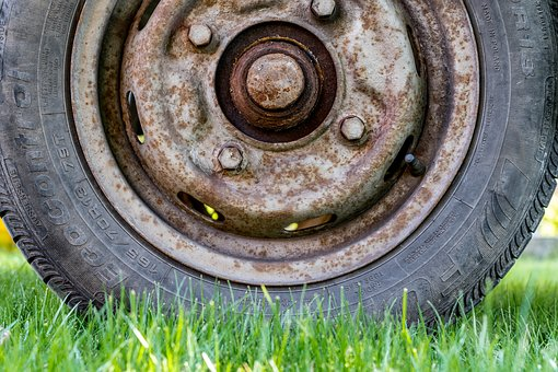 Wheel, Rusty, Old, Metal, Rusted, Broken, Stainless