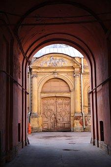 Arch, Doors, Door, Street, Old, City, Russia