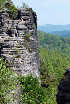 Climb, Elbe Sandstone, Landscape, Rock