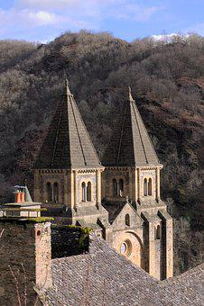 Medieval, Conques, Aveyron, Abbey