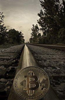 Cryptocurrency, Concept, Rail Tracks, Bitcoin