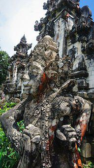 Balinese, Statue, Deity, Sculpture, Temple, Asia