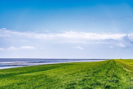 Dike, North Sea, Dorum, Wadden Sea, Dike Road