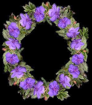 Wreath, Flowers, Frame, Decoration, Nature
