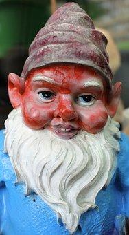 Dwarf, Garden Gnome, Flowers Dwarf, Funny, Cute, Figure