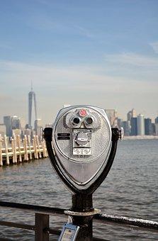 New York, Glasses, Skyscrapers
