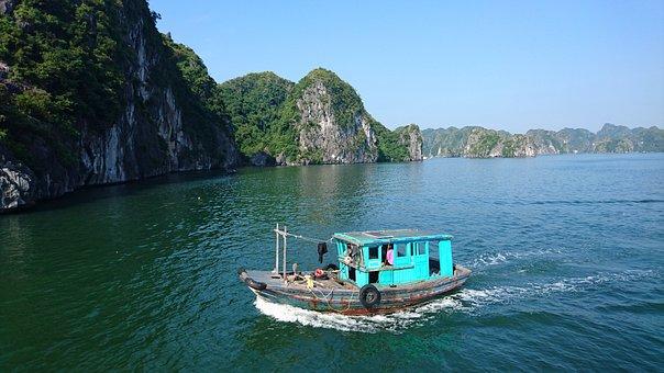 Halong Bay, Ship, Vietnam, Cruise, Asia, Vacation