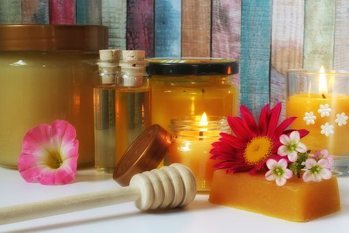 Honey Products, Honey, Beeswax, Beeswax Candle