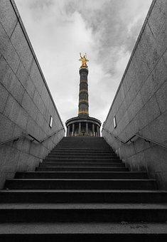 Berlin, Siegessäule, Landmark, Places Of Interest