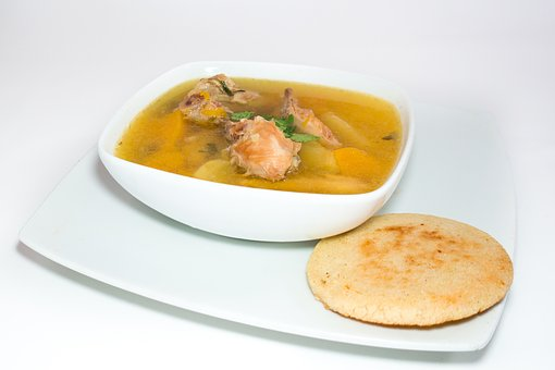 Arepa, Chicken Soup, Lunch, Food, Dish, Rico, Tasty