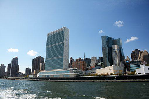 Un, New York, Manhattan, Cityscape, United Nations