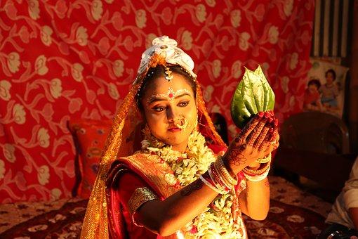 Wedding, People, Village, Bride, Dress, Marriage