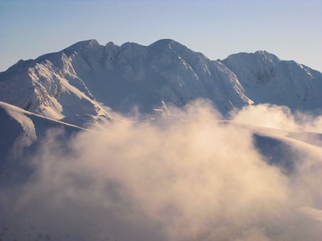 Mountains, Winter, Tatry, Snow, Climbing, Top, Ridge