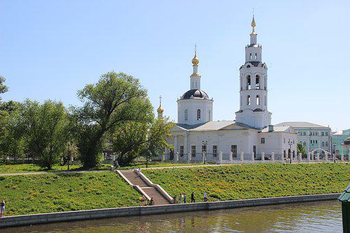 Church, River, Temple, Quay, Orthodoxy, Beach, Dome