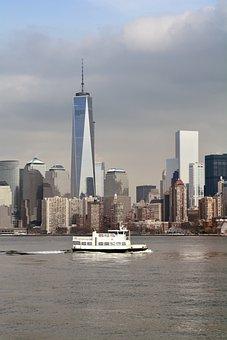 Manhattan, Skyscrapers, Architecture, City, Usa