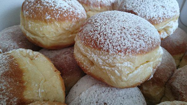Berlin, Donut, Food, Fritters, Sweet, Pastries
