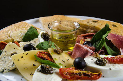 Foccacia With Olives, Tasting, Gourmet Food