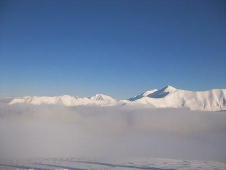 Mountains, Winter, Ridge, Tatry, The Fog